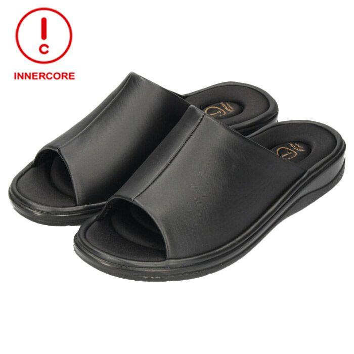インナーコア INNERCORE MENS センターシーム 941440 サンダル BLACK ブラック メンズ