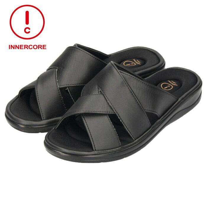 インナーコア INNERCORE MENS クロスバンド 941450 サンダル BLACK ブラック メンズ