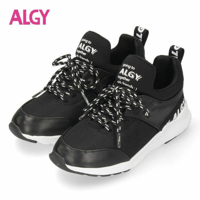 ALGY スニーカー キッズ ジュニア シューズ ブラック 4000 子供靴 女の子 アルジー