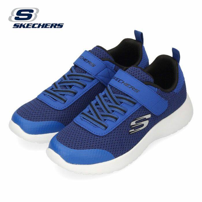 スケッチャーズ キッズ ジュニア スニーカー SKECHERS DYNAMIGHT-ULTRA TORQUE 97770L ブルー ブラック 子供靴 運動 体育