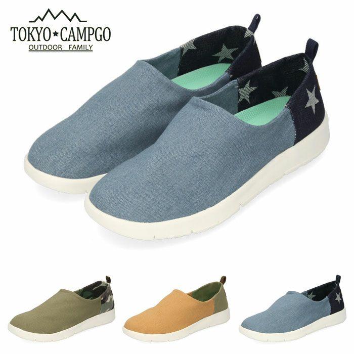 スリッポン シューズ レディース TOKYO CAMPGO 5107 キャメル カーキ ネイビー 2WAY 靴