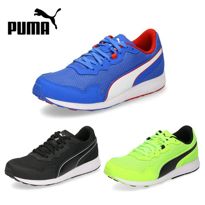 プーマ キッズ ジュニア スニーカー PUMA スピードモンスター PL 195364 運動靴 ブルー 07 ブラック 02 グリーン 05