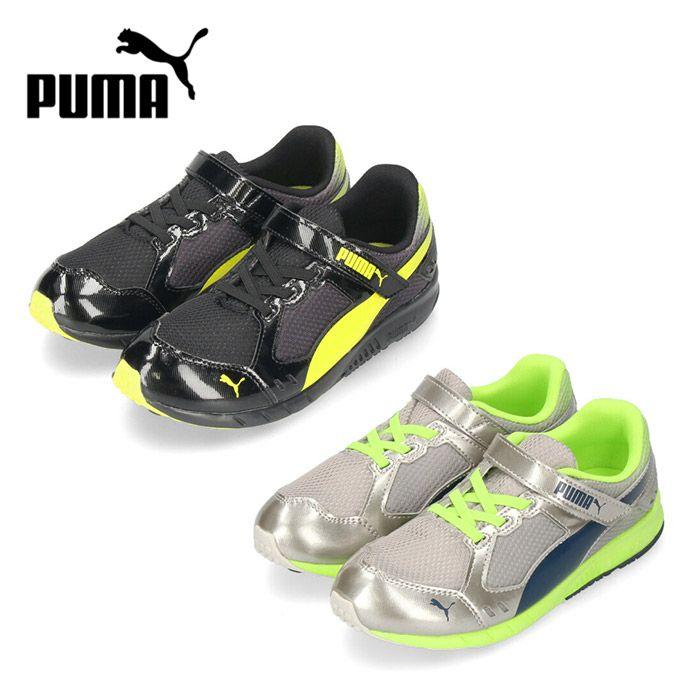 プーマ キッズ ジュニア スニーカー PUMA スピードモンスター V3 190266 運動靴 ブラック 06 シルバー 14